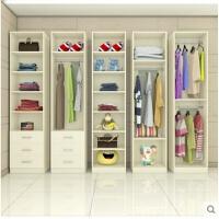 组合大衣柜 简约阳台柜 木质无门衣柜衣橱储物柜可定制 单门