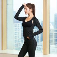 【两件套】暴汗服女套装跑步健身长袖发汗衣瑜伽裤运动出汗服上衣爆汗服