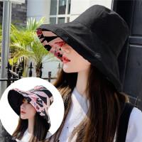 Makino/犸凯奴 夏季出游双面渔夫帽大帽檐遮阳帽防晒帽子女