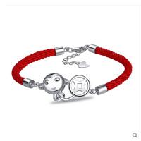 手链猴年猴子 本命年红绳 925银手链 女日韩版简约甜美复古生日礼物