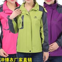 中年女装春秋风衣中老年运动服40-50岁大码女士外套妈妈装冲锋衣