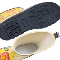 儿童雨鞋男童防滑四季通用雨鞋韩国中短筒学生女童加绒保暖水靴