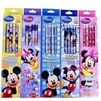 迪士尼米奇儿童铅笔12支装橡皮头铅笔盒装小学生铅笔DM0199-1