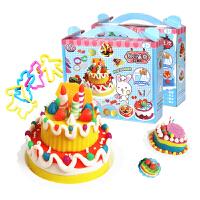 智高橡皮泥12 24 36色3D彩泥DIY益智手工无毒3岁儿童蛋糕益智玩具
