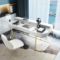 轻奢电脑桌烤漆台式电脑桌家用北欧书房写字台办公桌子 否