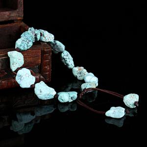 原矿绿松石原石手串   直径11mm