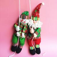 孩派 圣诞节装饰吊饰 降落伞圣诞老人 圣诞雪人 圣诞树布艺挂件