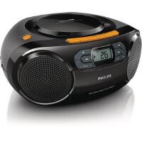 Philips/飞利浦AZ329 多功能磁带机 CD机 可播放MP3-CD 音乐CD 可插USB/SD卡 支持MP3/