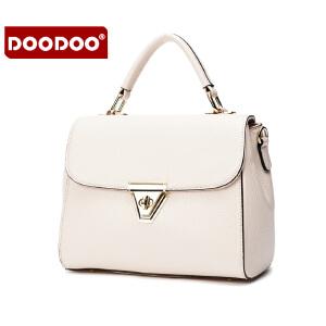 【支持礼品卡】DOODOO 2017新款时尚单肩斜跨手提包休闲百搭斜挎手提女士包包 D5136
