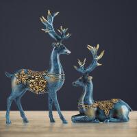 欧式鹿室内客厅电视酒柜装饰品摆件家居创意工艺结婚礼物美式摆设