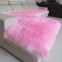 冬季长毛绒沙发垫欧式奢华简约现代加厚仿羊毛防滑皮沙发坐垫定做