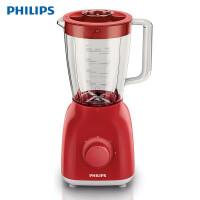 飞利浦(PHILIPS)HR2100/50 家用多功能果汁搅拌机小型多档电动料理机台式1.5L辅食 红色