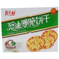 嘉士利 精制葱油薄脆饼干 680g 盒装 休闲办公室零食 咸味饼干