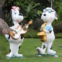 卡通狗狗雕塑玻璃钢户外园林景观动物装饰品商业街商场美陈狗摆件