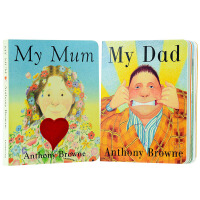 英文原版绘本My Mum My Dad 我爸爸我妈妈 英语纸板书 英语启蒙 大奖作者 安东尼布朗 Anthony Browne