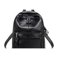双肩包女妈咪软皮包背包女初中高中书包学生包包旅行包世帆家SN7188 黑色
