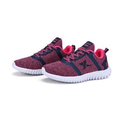 特步女鞋跑步鞋网面运动鞋透气学生休闲鞋女983118116325