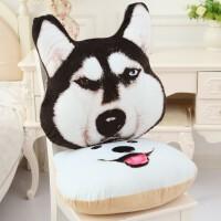 哈士奇3d狗头暖手抱枕捂手枕毛绒玩具可爱仿真二哈狗萌女生