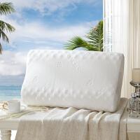 LOVO家纺 经典泰国进口90%乳胶含量按摩枕 枕头枕芯乳胶枕36*60