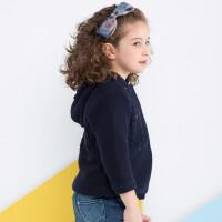 加菲宝贝GAFFEY KITTY 童装女宝宝毛衣外套秋冬季GKMA7051