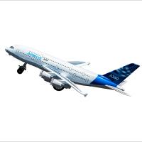 空客A380合金飞机模型儿童礼物仿真客机机模男孩玩具声光回力