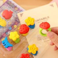 小清新可爱超萌系列戒指橡皮 学习用品