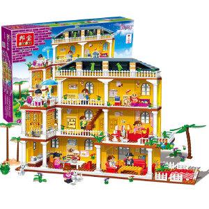 【当当自营】邦宝益智拼装积木小颗粒儿童女孩玩具建筑礼物 我爱我家8370