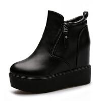 内增高厚底短靴秋冬新款女鞋2018韩版坡跟马丁靴高跟女棉鞋女短靴