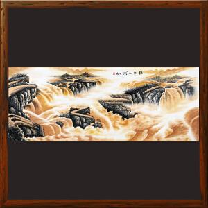 《汇金之河》横幅山水画【R5516】许宏盛