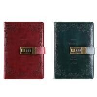 复古密码本带锁日记本商务创意手账本记事本文具笔记本子手帐本