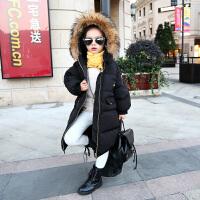 女童面包服棉衣外套棉袄中长款2017新款羽绒韩版中大童儿童潮