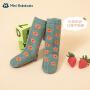 迷你巴拉巴拉儿童袜子2021春季新款精梳棉舒适透气文艺风中筒袜
