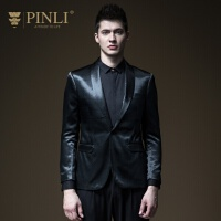 PINLI品立2020春季新款男�b修身�挝餍蓍e男士西�b外套B191106116