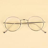 防蓝光眼镜平光防护目镜显脸瘦无度数窄圆框网红款文艺