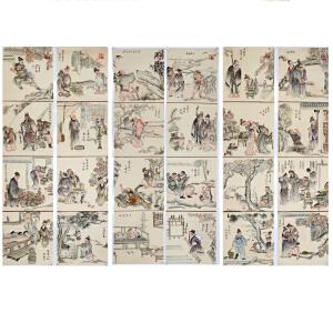 扑灰年画《精品二十四孝图》国家首批非物质文化遗产,来自莫言故乡山东高密R205