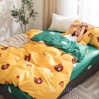 大学生宿舍床单枕头套被罩三件套上下铺网红款床上四件套水洗棉学生宿舍床单被套三件套单人床上用品套件
