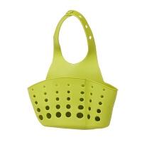 厨房水槽挂袋 可调节按扣式塑料沥水篮水龙头海绵杂物收纳篮