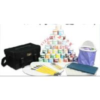 京潮港马利牌水粉颜料45件套装画笔调色板调色盒工具箱等