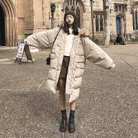 女中长款冬2018新款韩版宽松bf过膝ins面包棉衣厚外套