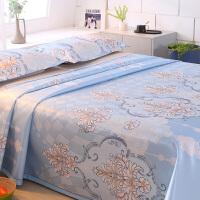夏季床单冰丝凉席三件套可机洗1.8m床席子夏天透气1.21.5米可折叠