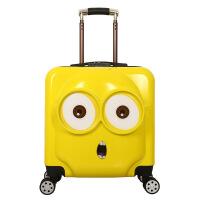 小叮当18/19寸儿童拉杆箱万向轮卡通旅行箱行李箱书包 大眼 密码锁可登机