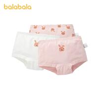 【2件6折:47.4】巴拉巴拉女童�妊�棉三角�和�短�小童����甜美印花底���力三�l�b