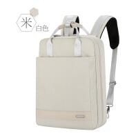 苹果小米联想戴尔华硕手提笔记本电脑双肩背包男女15macbook13.3pro14air15.6寸防 米白色 12寸