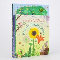 儿童趣味翻翻书3册套装自然常识篇 英文原版 Lift the Flap 大开本精装低幼童书