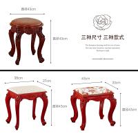 古筝钢琴凳单人欧式梳妆台凳子美式化妆椅中式古典家用小方凳圆凳