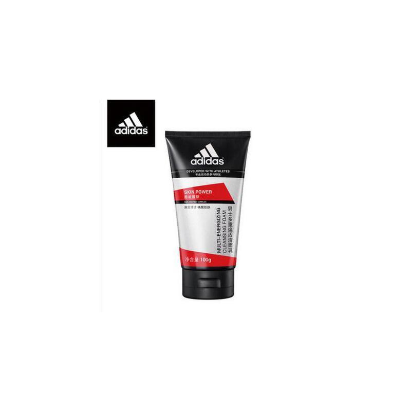 Adidas/阿迪达斯 男士控油洗面奶多重焕活洁面乳100g清洁肌肤 夏季护肤 防晒补水保湿 可支持礼品卡