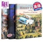 【现货】哈利波特英文原版 全彩绘本 1 2 3 Harry Potter The Illustrated 哈利波特与魔