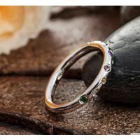 日韩版银时尚首饰情侣气质创意对戒银饰品指环银戒指女