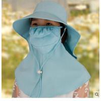 女大沿太阳帽遮脸帽 夏天韩版骑车 遮阳帽可 折叠防紫外线防晒帽