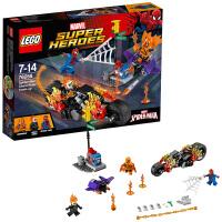 7月新品乐高超级英雄系列 76058蜘蛛侠:恶灵骑士集结 LEGO 积木